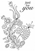 Woodware - Bold Blooms Charlotte - Clear Magic Stamp Set - JGS514